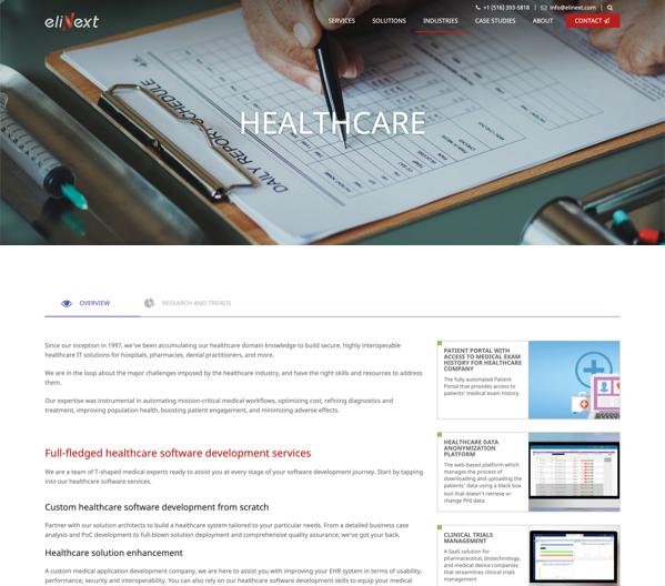 Elinext website