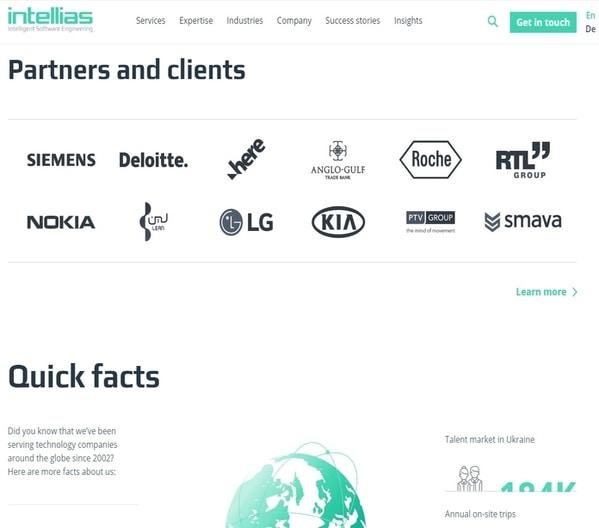 Intellias website