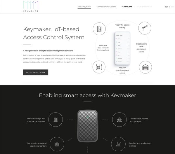 Keymaker website